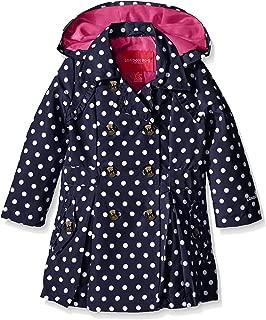 london fog girls lightweight polka dot trench coat