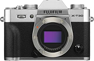 Fujifilm X Series Mirrorless Camera Silver Body Only, Silver (X-T30 Silver Body Only)