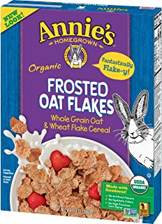 Annie's Organic Cereal, Frosted Oat Flakes, Whole Grain Cereal, 10.8 oz (Pack of 10)