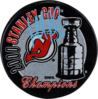 Martin Brodeur New Jersey Devils Autographed 2000 Stanley Cup Champions Logo Hockey Puck - Fanatics Authentic Certified