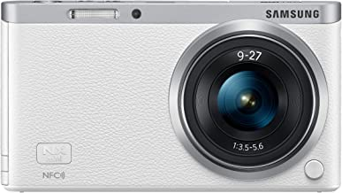 Samsung Electronics NX Mini EV-NXF1ZZB2HUS Wireless Smart 20.5MP Compact System Camera with 2.96-Inch LCD and 9-27mm f3.5-5.6 ED OIS (White)