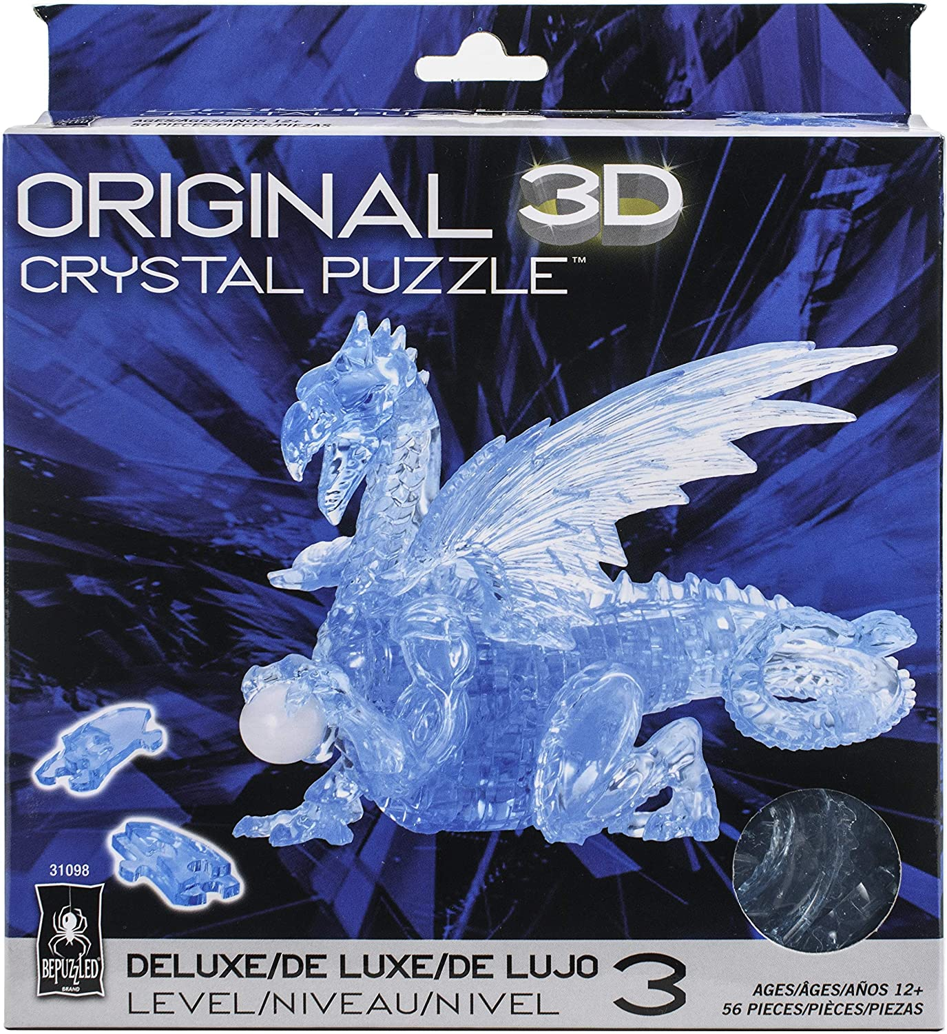 21. Deluxe Crystal Puzzle-Dragon (Blue)