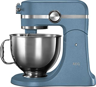 AEG KM5560-U UltraMix Stand Mixer, 1200w, Sterling Blue