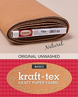 natural washable kraft paper fabric