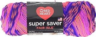 Red Heart Super Saver Yarn, Fair Isle - Flamenco