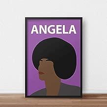 Angela Davis Poster Print // Wall Art - Portrait - Retro - Colourful - Minimalist - Civil Rights - Black Lives Matter - Inspirational - Black Panther