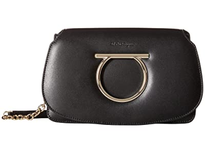 Salvatore Ferragamo Mini Convertible Clutch (Nero) Handbags
