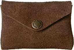 Rugged Suede Snap Wallet