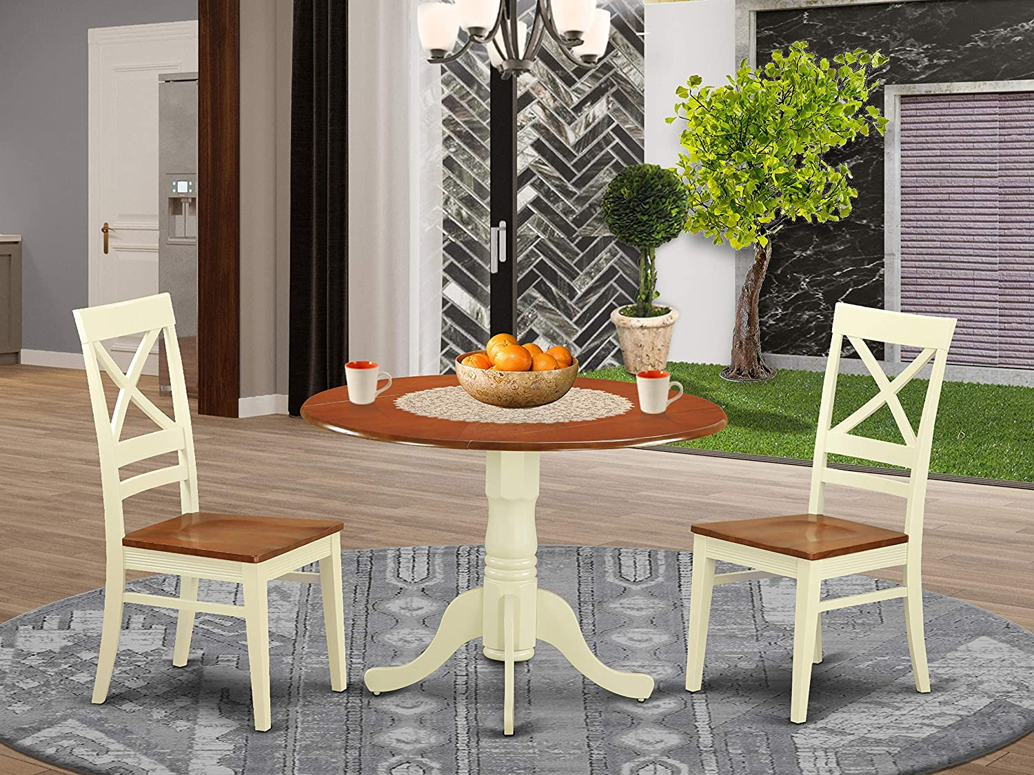 3 Pc Dining room set for 2 In stock and Table Chairs 2-Dinette dinette Ranking TOP2