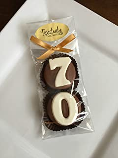 8 Pairs #70 Milk Chocolate Covered Oreo Cookie Party FAVORS (One Dozen) Numbers