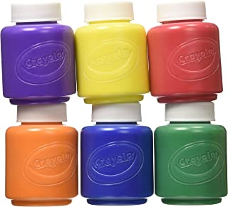 Crayola Kids' Paint Washable, Assorted Colors, 6 Count (Pack of 2)