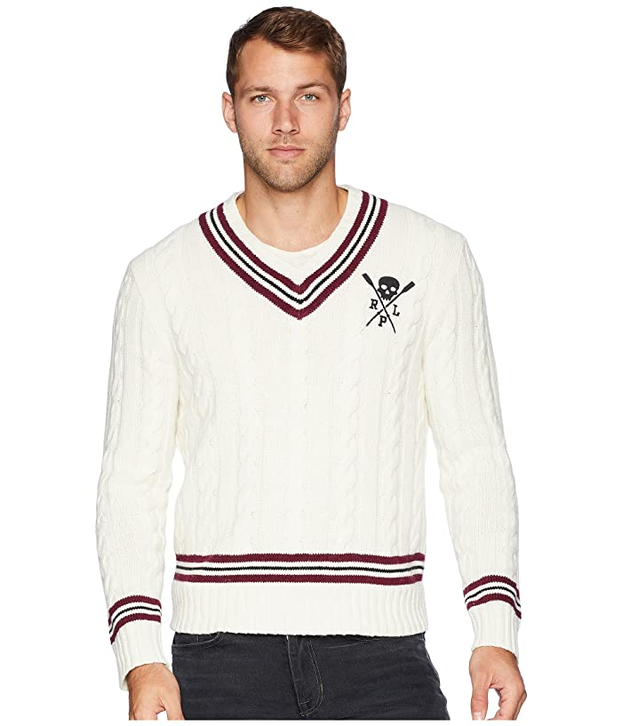 Cricket Lauren Cable Cotton Polo Cashmere Ralph Sweater 9EHI2DYeW