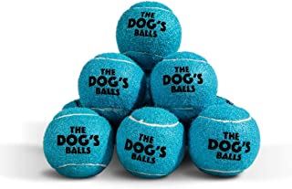 The Dog's Balls Pelotas de Tenis para Perro, Pelotas de Tenis para Perros en 3 tamaños, 4 Colores, Juguetes de Calidad para Perros, Pelota de Perro Fuerte Premium