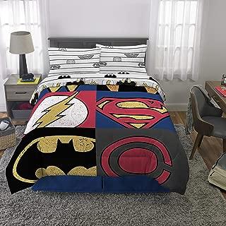 Franco Kids Bedding Super Soft Comforter and Sheet Set, 5 Piece Full Size, DC Justice League