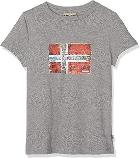 K Seitem Med Grey Mel Camiseta para Niños