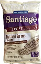 Santiago Traditional Refried Beans Smooth Beans Mix, Dehydrated 1.86 Pound Pouch
