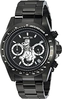 Men's Disney Limited Edition Quartz Watch with Stainless-Steel Strap, Black, 9 (Model: 24399)