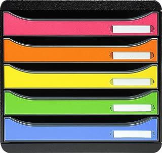 Exacompta - Réf. 309798D - BIG BOX PLUS - Caisson 5 tiroirs pour document A4+ - Dimensions extérieures : Profondeur 34,7 x...