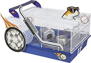 Midwest Homes for Pets Hamster Cage | Exciting Hot Rod Theme | Accessories & Decals Included