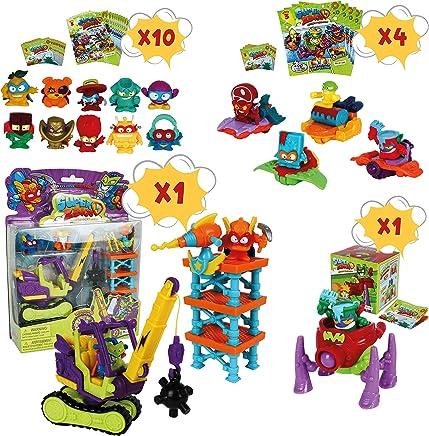 SuperZings Serie 3 - Total Demolition Mission 2 y Pack Sorpresa con 15 Sets | Contiene Blíster Total Demolition, 10 Sobres One Pack, 4 Supersliders y 1 Superbot | Juguetes y Regalos para Niños
