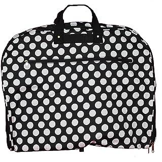 World Traveler World Traveler 40-inch Hanging Garment Bag - Black White Dot Ii, Black White Dot Ii (Black) - 81GM40-635