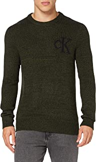 Calvin Klein Jeans Men's Twisted Yarn Ck Logo Sweater