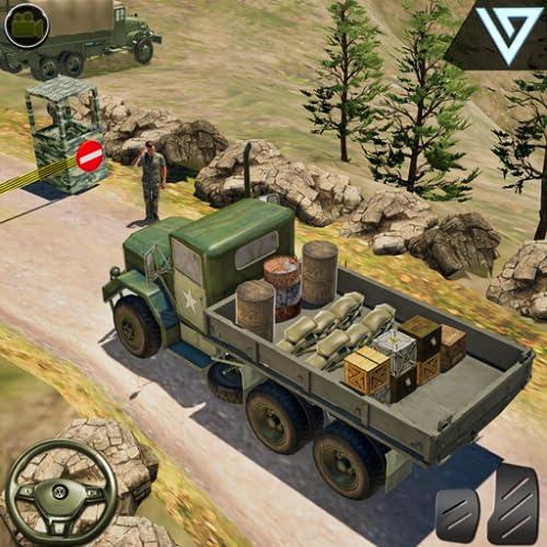 OffRoad-US-Armee-Transporter-Fracht-LKW-Fahrer