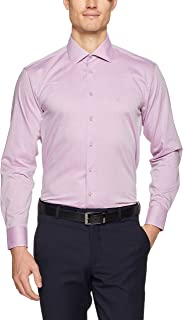 Calvin Klein Men Slim Fit Herringbone Dot Shirt