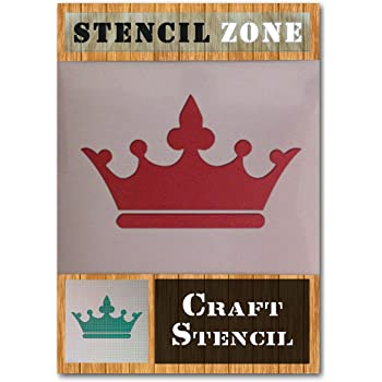 Crown Jewels King Queen Royal Mylar Airbrush Painting Wall Art Crafts Stencil...