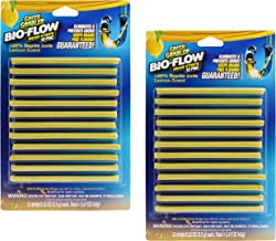 Lemon Scent BIO-Flow Drain Strips | Drain Cleaner & Deodorizer | Drain Sticks | Garbage Disposal Deodorizer | Sink Drain Cleaner - 24 Drain Strips