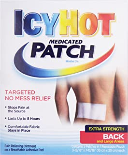 Icy Hot Topical Analgesic Back Patch, 5 Count Box (1) Temporarily Relieves Minor Pain Associated.