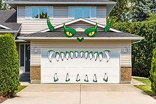 LHKSER Halloween Decorations Outdoor - Monster Face Garage Archway Door Window Car Halloween Decoration