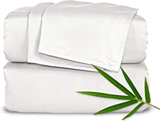 """Pure Bamboo Sheets Short Queen Size Bed Sheets 4pc Set for RV Camper (60""""x75"""") - 100% Organic Bamboo, Soft, 16"""" Deep Pocke..."""