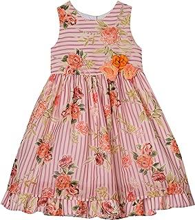 Baby-Girls Floral Stripe Dress