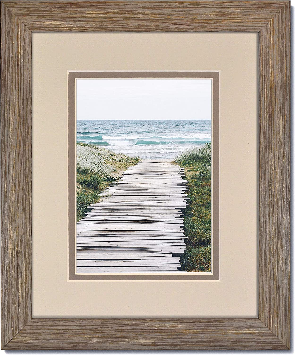 Rustic Modern Blue-Grey Photo Frame Glass and Clear Selling rankings Max 65% OFF with Oyster