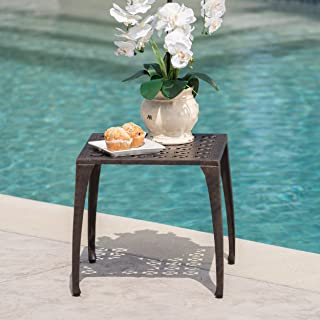Best bronze outdoor end table Reviews