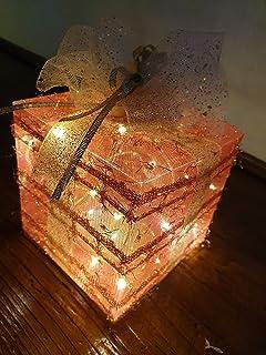 Pacchetto Illuminato Pacchetto Regalo Natale Rosso, Idea Regalo Decorativa per Natale, Capodanno, Compleanno, Albero di Na...