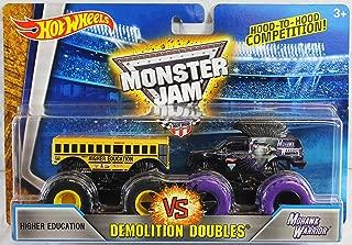 Hot Wheels 2016 Monster Jam Demolition Doubles - Higher Education vs. Mohwak Warrior 1:64 Scale