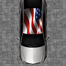 Sign Factory R53 American Flag Roof Wrap - Decal Decals Wraps Vinyl Wraps Art Poster Image Carbon Hood Car Truck Fiber Hood