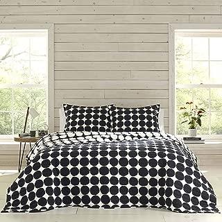 Marimekko Pienet Kivet Quilt Set, Twin, Black