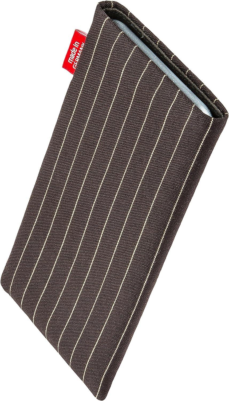 fitBAG Rave Noir en Tissu Pochette customis/ée adapt/ée Housse de Protection pour Sony Xperia XA2 Plus Fabriqu/é en Allemagne Nettoyage de l/'/écran