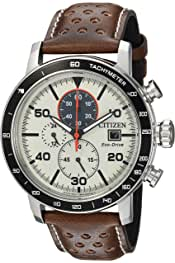 Citizen Men's 'Eco-Drive' Quartz Stainless Steel and Leather Casual Watch, Color:Brown (Model: CA0649-06X) 4.7 out of 5 stars 1,112 $243.75$243.75$325.00$325.00 Ships to United Kingdom