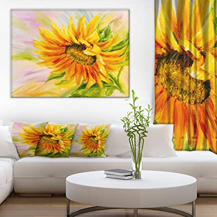 Sunflower Oil Painting Floral Art Canvas Print