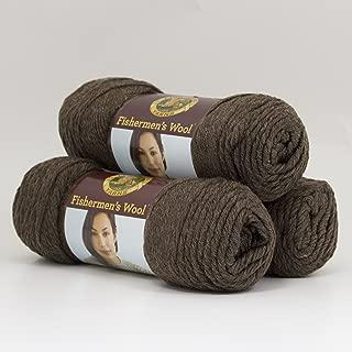 Lion Brand Bulk Buy Fishermen's Wool Yarn (3-Pack) Nature's Brown 150-126