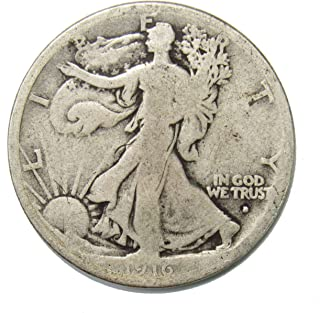 1916 D Walking Liberty Half Dollar 50¢ OBV - KEY DATE