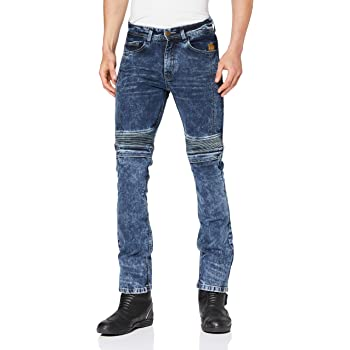 im modernen Slim-Fit-Stil Trilobite Micas Motorrad-Jeans f/ür Herren
