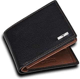 Urban Forest Kyle RFID Blocking Black/Redwood Leather Wallet for Men