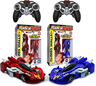 Radical Racers Wall-Climbing Car, Remote-Controlled with 360 Degrees Turn Functionality for Multi Directional Play As Seen On TV (Red and Blue)