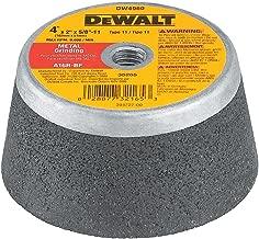 DEWALT DW4960 4-Inch by 2-Inch by 5/8-Inch-11 Metal Grinding Steel Backed Cup Wheel