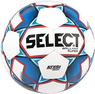 Select Brillant Super Nfhs Soccer Ball, White/Blue/Red, Size 5